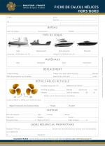 OUTBOARD PROPELLER SELECTION SHEET